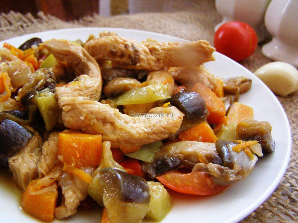 Белое мясо с овощами