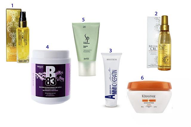 Профессиональные средства для восстановления поврежденных волос