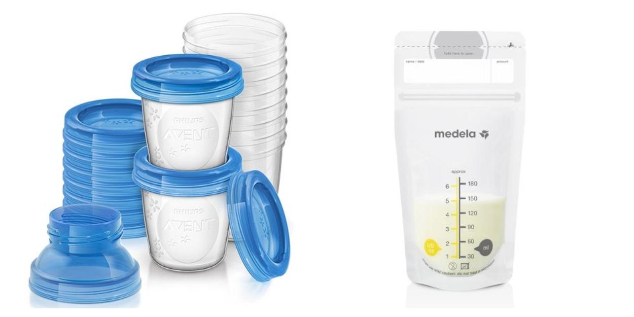 Приспособления для хранения грудного молока (контейнеры, пакеты)